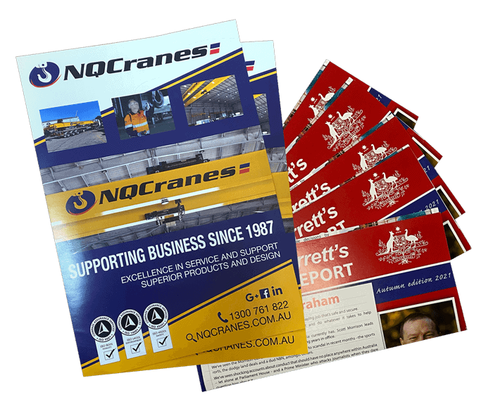 Image of direct mail brochures and newsletters